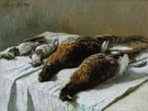 Claude Monet : Still Life with Pheasants and Plovers c1880 : $389