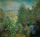 Claude Monet : The Corner of the Garden at Montgeron c1876 : $395