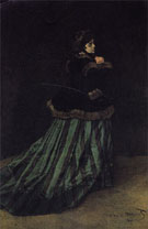Claude Monet : Camille Woman in a Green Dress 1866 : $389