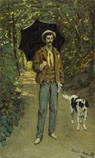 Claude Monet : Portrait of J F Jacquemart with Parasol 1865 : $369