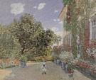 Claude Monet : Monets House at Argenteuil 1873 : $389