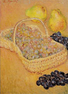 Claude Monet : Basket of Grapes Quinces and Pears 1883 : $369