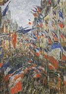 Claude Monet : Rue Montorgueil Decked Out with Flags Paris 30 June 1878 : $389
