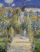 Claude Monet : The Artists Garden at Vetheuil 1881 B : $389