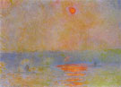 Claude Monet : Waterloo Bridge Sun in the Fog London Winter c1903 : $369