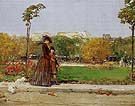 Childe Hassam : In the Park 1889 : $389