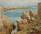 Childe Hassam : Coast Scene Isles of Shoals 1901 : $389