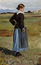 Childe Hassam : French Peasant Girl 1883 : $389