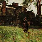 Childe Hassam : The Old Fairbanks House Dedham Massachusetts 1884 : $369