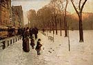 Childe Hassam : Boston Common at Twilight 1885 : $389