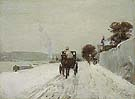Childe Hassam : Along the Seine Winter 1887 : $389
