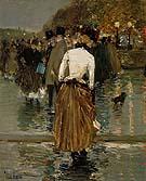 Childe Hassam : Promenade at Sunset Paris 1888 : $389