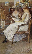 Childe Hassam : Mrs Hassam and Her Sister 1889 : $389