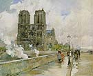 Childe Hassam : Notre Dame Cathedral Paris 1888 : $389