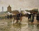 Childe Hassam : Clearing Sunset Corner of Berkeley Street and Columbus Avenue 1890 : $389