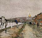 Childe Hassam : Charles River and Beacon Hill 1892 : $389