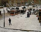 Childe Hassam : Fifth Avenue in Winter 1890 : $389