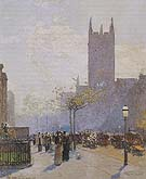 Childe Hassam : Lower Fifth Avenue 1890 : $369