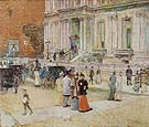 Childe Hassam : The Manhattan Club the Stewart Mansion 1891 : $389