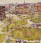 Childe Hassam : Union Square in Spring 1896 : $389