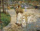 Childe Hassam : Spring in Central Park Springtime 1898 : $369
