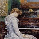 Childe Hassam : The Sonata 1893 : $369