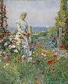 Childe Hassam : In the Garden Celia Thaxter in Her Garden 1892 : $389