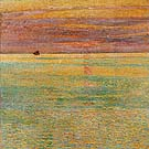Childe Hassam : Sunset at Sea 1911 : $369