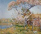 Childe Hassam : Apple Trees in Bloom Old Lyme 1904 : $389