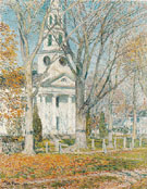 Childe Hassam : Church at Old Lyme 1903 : $389