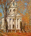 Childe Hassam : Church at Old Lyme 1905 : $389
