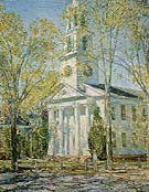 Childe Hassam : Church at Old Lyme 1906 : $389