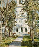 Childe Hassam : The Church at Gloucester 1918 : $389