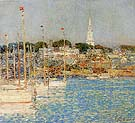 Childe Hassam : Cat Boats Newport 1901 : $389