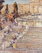 Childe Hassam : The Spainish Stairs Rome 1897 : $369