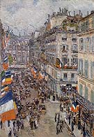 Childe Hassam : July Fourteenth Rue Daunou 1910 : $389