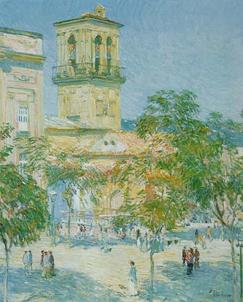 Childe Hassam : Street of the Great Captain Cordoba 1910 : $389