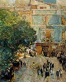 Childe Hassam : Square at Sevilla 1910 : $389