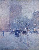 Childe Hassam : Late Afternoon New York Winter 1900 : $369
