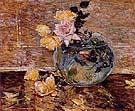 Childe Hassam : Roses in a Vase 1890 : $369