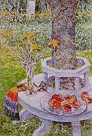 Childe Hassam : Mrs Hassams Garden at East Hampton 1934 : $389