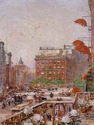 Childe Hassam : View of Broadway and Fifth Avenue 1890 : $389