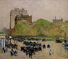 Childe Hassam : Spring Morning in the Heart of the City 1890 : $389