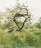Childe Hassam : Peach Blossoms Villers le Bel 1887 : $389