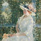 Childe Hassam : An Outdoor Portrait of Miss Weir 1909 : $389