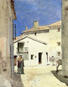 Childe Hassam : A Street in Denia Spain : $389
