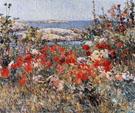 Childe Hassam : Celia Thaxter Garden 1890 : $389