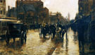Childe Hassam : Columbus Avenue Rainy Day 1885 A : $389
