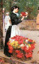 Childe Hassam : Flower Girl : $389
