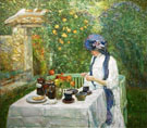 Childe Hassam : French Tea Garden 1910 : $389